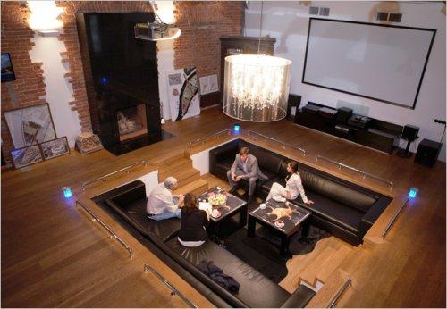 Sunken living rooms: where all the magic happens.