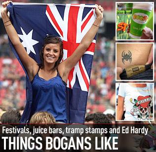An example of modern day Aussie bogan make-up.