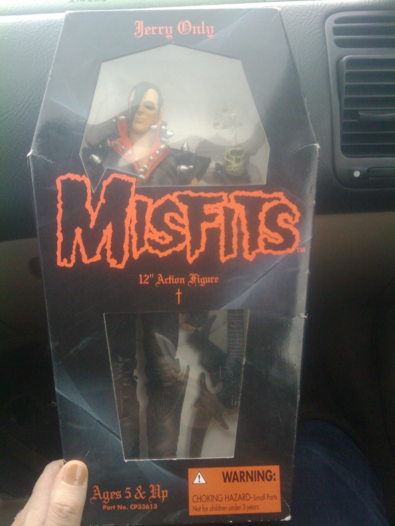 Stephy received a Jerry Only action figure from Listener Kevin