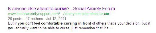 Social anxiety + cursing = Dongtini's wheelhouse.