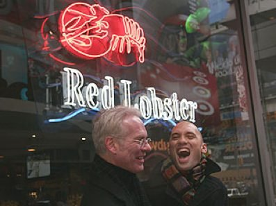 Tim Gunn & Andre at Red Lobster